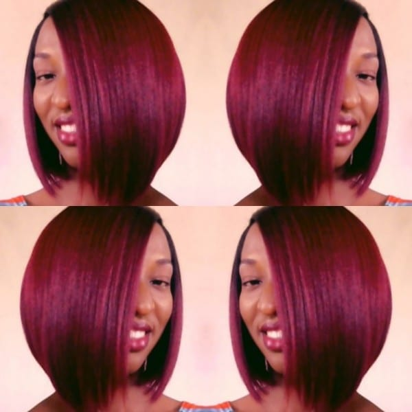 Red Bob   Sensationnel Synthetic Hair Empress Natural Lace Front