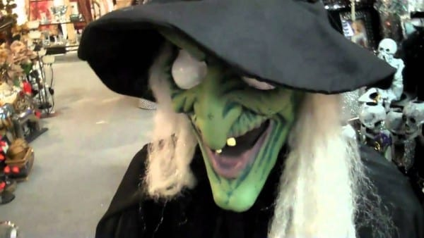 Scary Animated Witch Decoration For Halloween