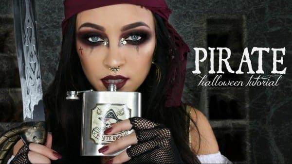 Pirate Halloween Makeup Tutorial   Glam Pirate Makeup