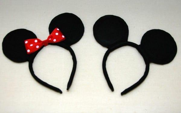 One Creative Housewife  Diy Mickey & Minnie Mouse Ears
