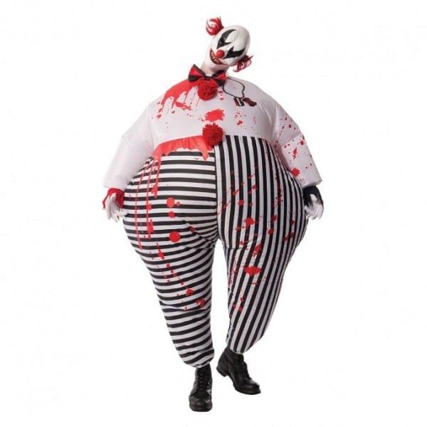 Mens Inflatable Evil Clown Costume