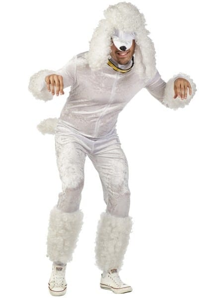 Mens White Poodle Costume  The Coolest