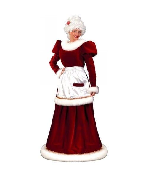 Adult Mrs Santa Suit Velvet Christmas Costume Plus Size