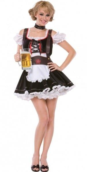 Beer Maiden Costume   Brown & Brugandy