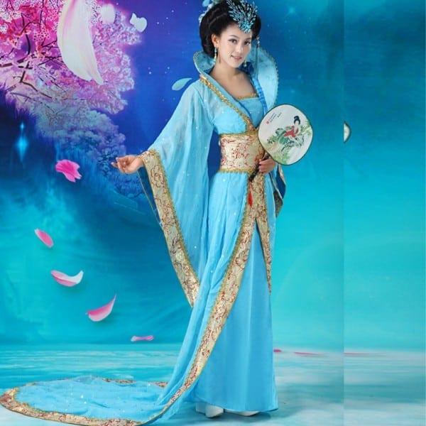 New Arrival Blue Chinese Ancient Infanta Dramaturgic Dress Photo