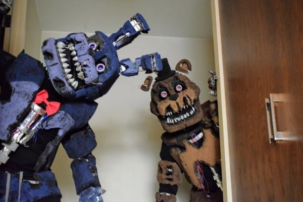 Nightmare Bonnie And Nightmare Freddy Cosplay By Creaturecomplex