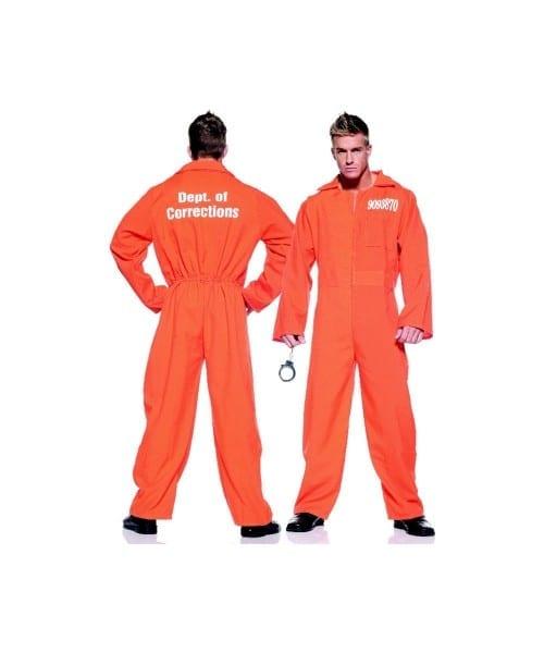 Orange Prison Jumpsuit Costume