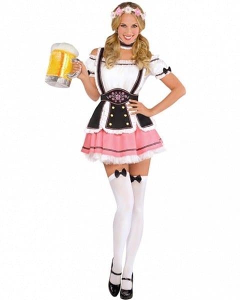 K396 Oktoberfest Wench Ladies Fancy Dress Up German Bavarian Beer