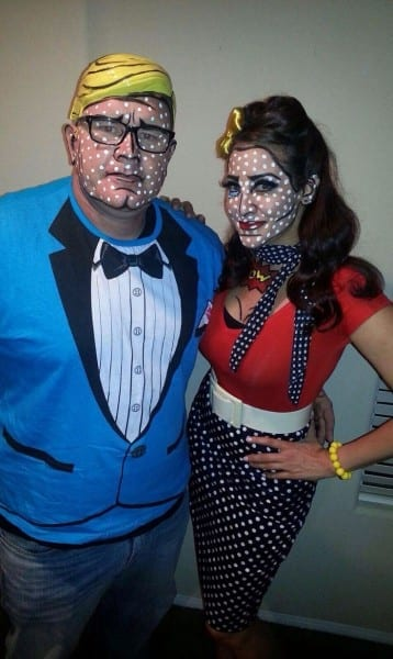 Pop Art Comic Book Halloween Makeup Make And Female Pin Up, Art