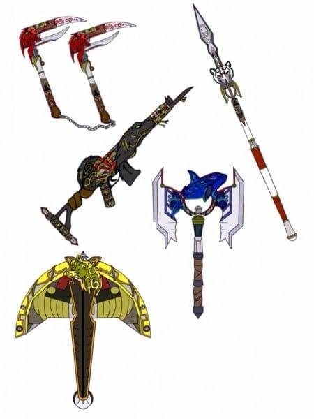 Power Ranger Slayer Weapons  By Eddmspy On Deviantart