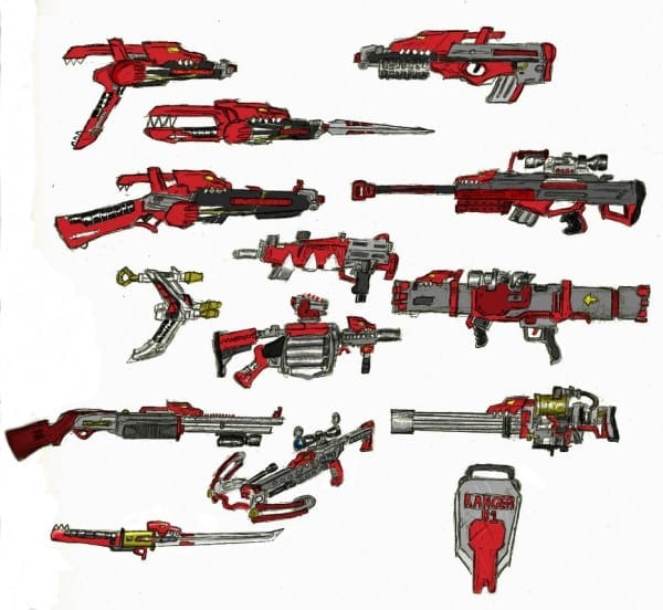 Power Rangers Weapons By Baddogg On Deviantart