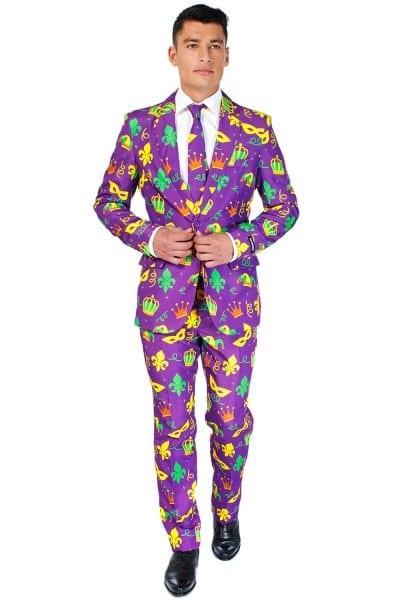 Purple Mardi Gras Suit Adult Costume