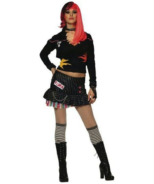 Adult Punk Rock Star Halloween Costume