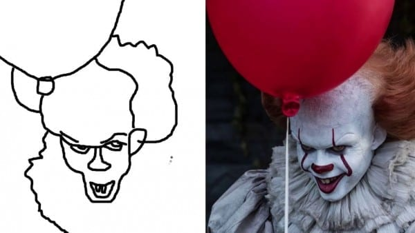 Quickly Pennywise Coloring Pages It 2017 Clown How To Draw