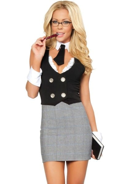Sexy Librarian Oufit, School Girl Teacher Costume
