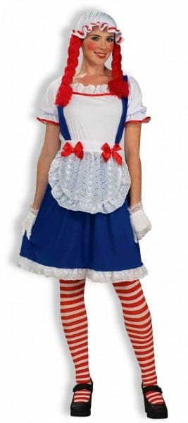 Rag Doll Raggedy Ann Doll Dress Costume Adult Womens 721773633393