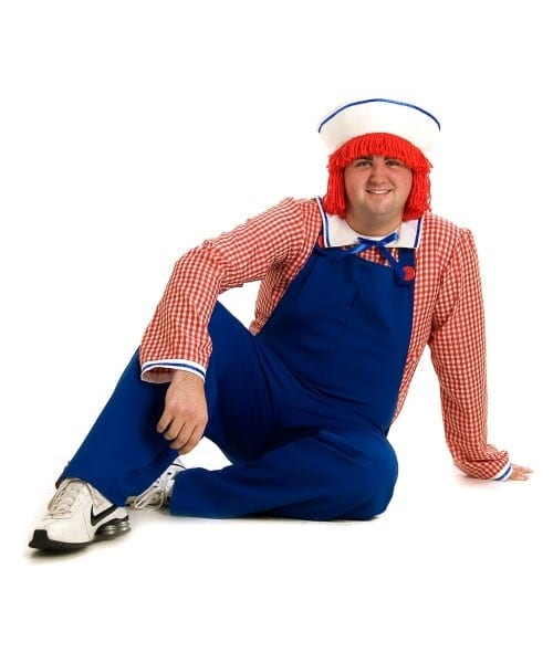 Adult Raggedy Andy Plus Size Halloween Costume