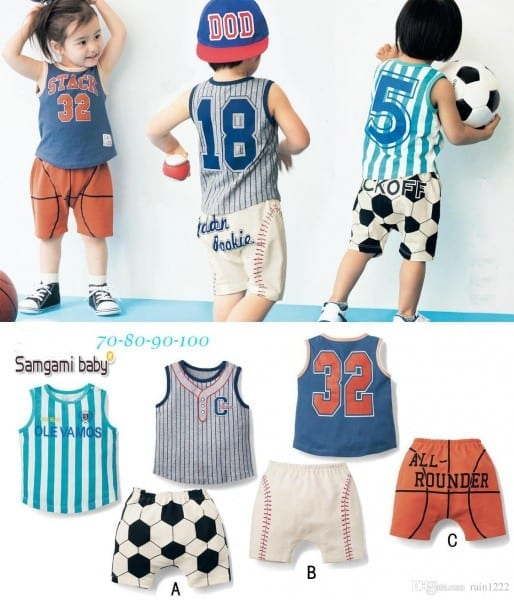 2018 Boys Children Kids Sport Clothing Sets Outfits Baby Toddlers