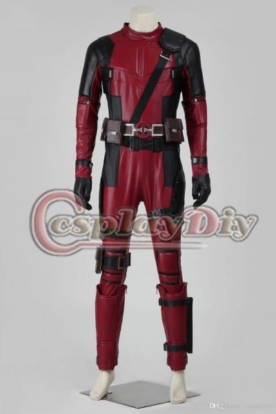 2016 New Deadpool Costume Worn By Ryan Reynolds Adult Mens
