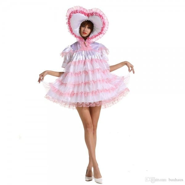 New Arrival Sissy Girl Adult Baby Sissy Lockable Sweet Heart Soft