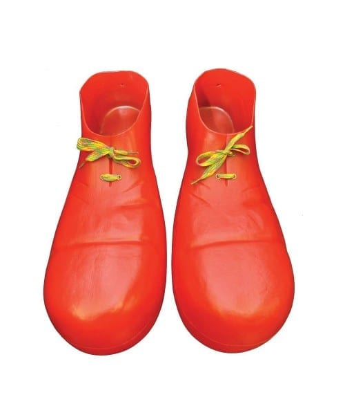 Adult Red Clown Shoes