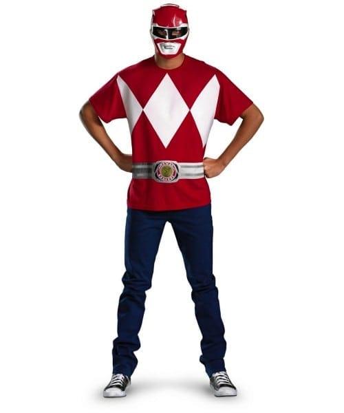 Power Ranger Adult Red Movie Superhero Costume Kit