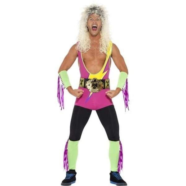 Retro Wrestler Adult Costume Ultimate Warrior Wwe Rockers 80's 90's