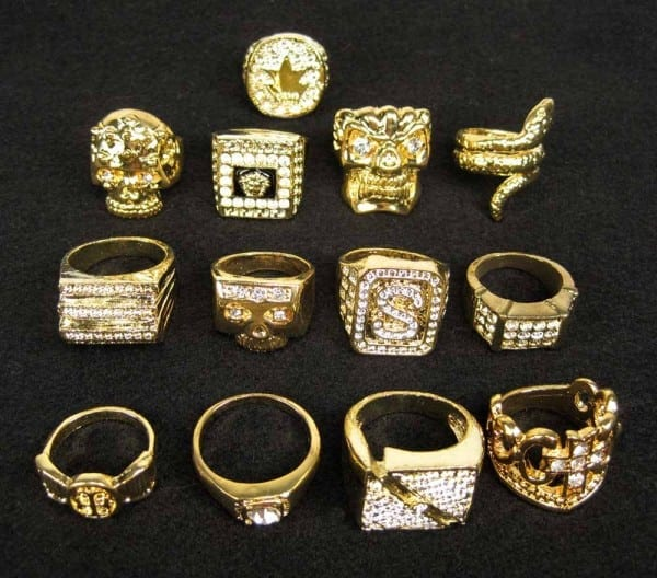 3 Piece Pimp Costume Jewelry Bling