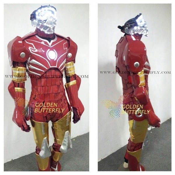 Discount Robot Costumes Led Mask Dance Men Luminous Suit Led Show