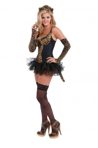 Adult Leopard Kitty Woman Costume