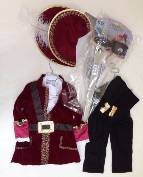 Nwt Disney Store Sz 3 3t Captain Hook From Peter Pan Costume W