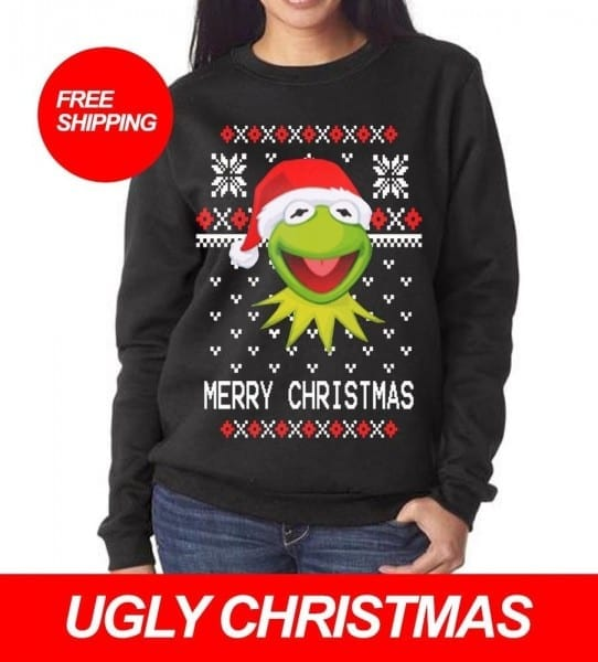 Kermit The Frog Ugly Christmas Meme Sweater Party All Sizes Free