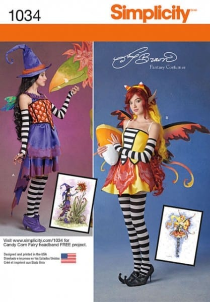 S0234 Simplicity Costume Pattern Amy Brown Whimsical Funky Candy