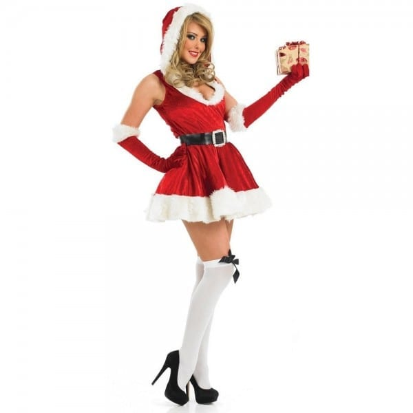 Womens Santa Lady Christmas Costume