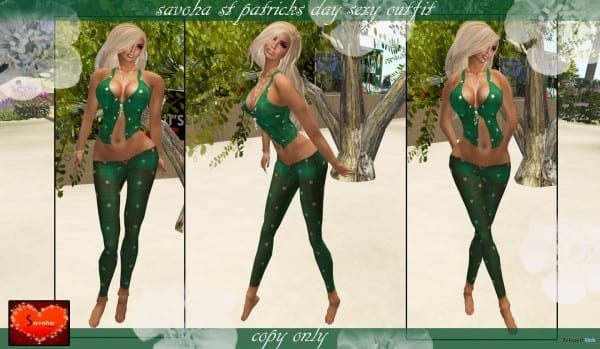 St Patrick's Day Sexy Outfit 1l Promo By Savoha Creations