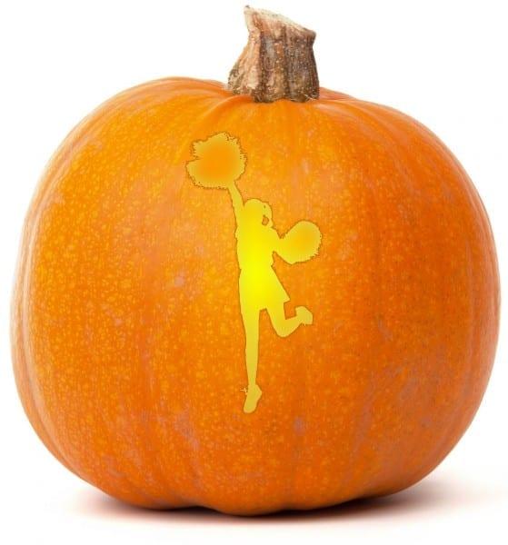 12 Images Of Cheerleader Pumpkin Carving Patterns Template
