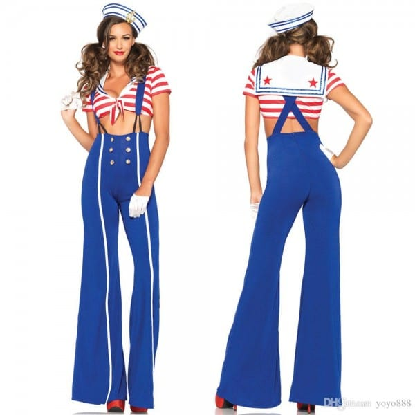 2018 Sexy Lingerie Womens Sailor Costume Adults Nautical Navy
