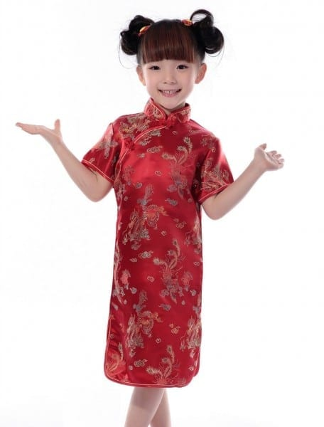 Shanghai Story Baby Girls Chinese Style Qipao Dress Brand Dragon