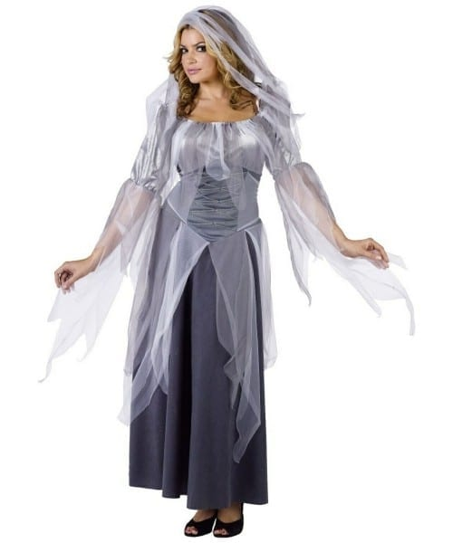 Ghost Silver Halloween Adult Costume