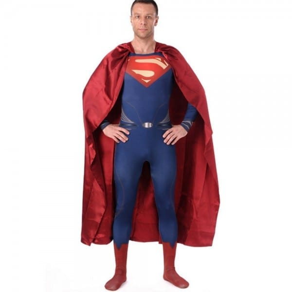Superman Costume Adult Man Of Steel Costume Halloween Costumes For