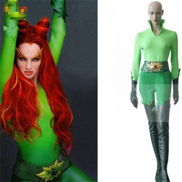 Dc Batman & Robin Poison Ivy Jumpsuits Cosplay Costume