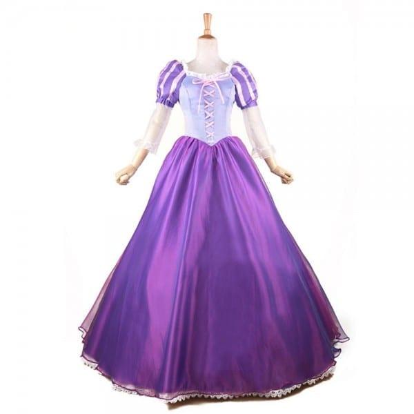 Tangled Princess Rapunzel Costume Fairytale Adult Fancy Dress