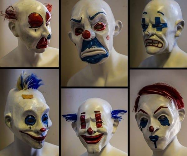 The Dark Knight Joker & Henchmen Masks