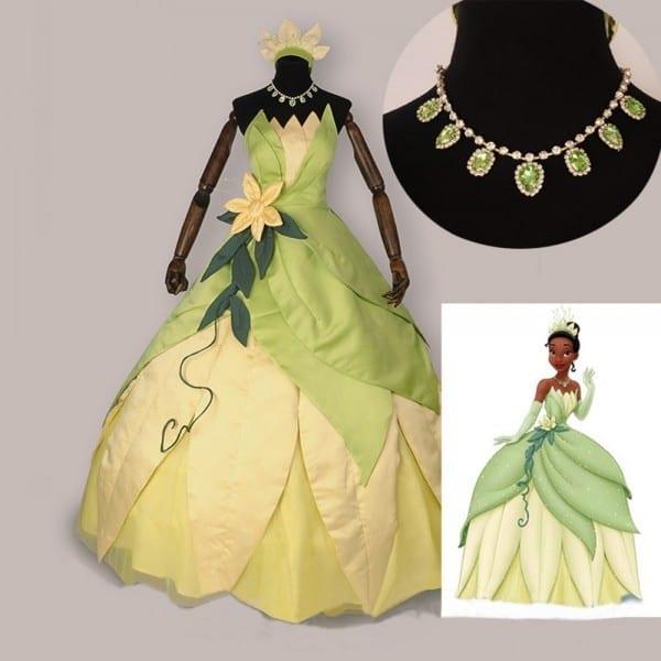 The Princess And The Frog Cosplay Costume Adult Princess Tiana