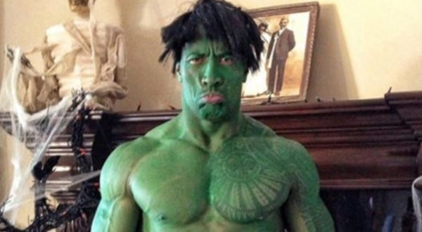 The Rock Reveals His Hulk Costume With Messed Up Haircut