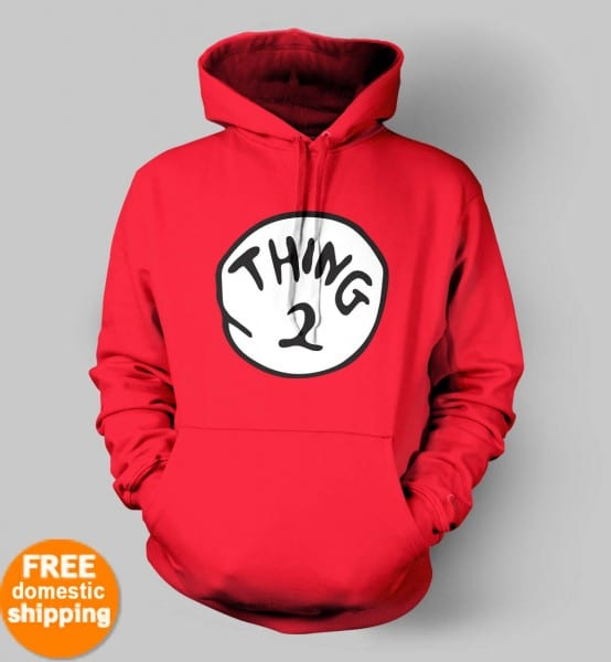 Thing 1 Thing 2 Thing 3 Hoodie Sweatshirt Dr Seuss Cat In The Hat