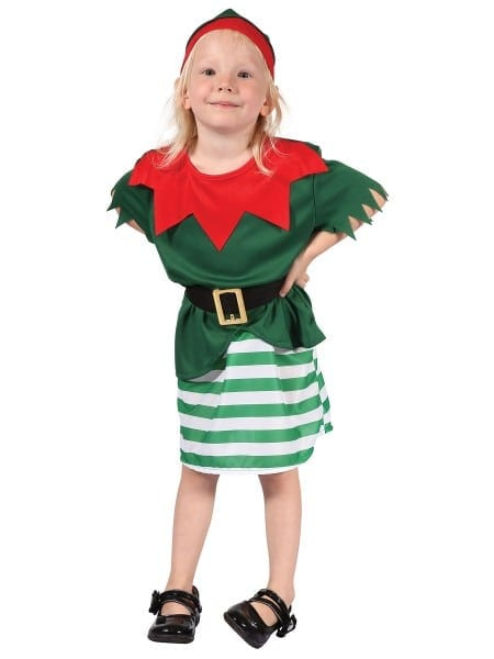 Child Toddler Girl Santas Little Helper Costume