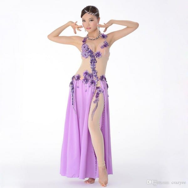 2018 Top Quality Egyptian Belly Dance Costume Women Nude