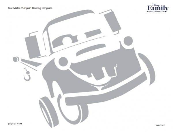 Tow Mater Free Disney Pumpkin Stencils Popsugar Smart Living For