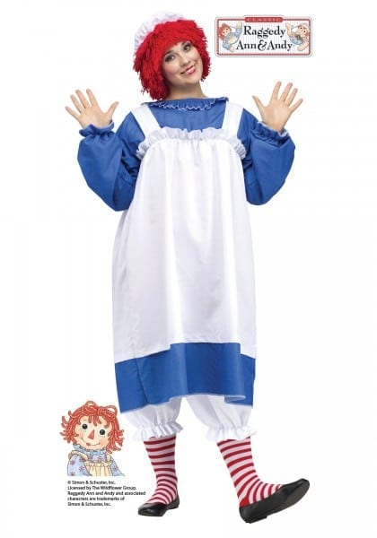 Rare Pics Of Raggedy Ann Kids Costume Girls Halloween Costumes  5548